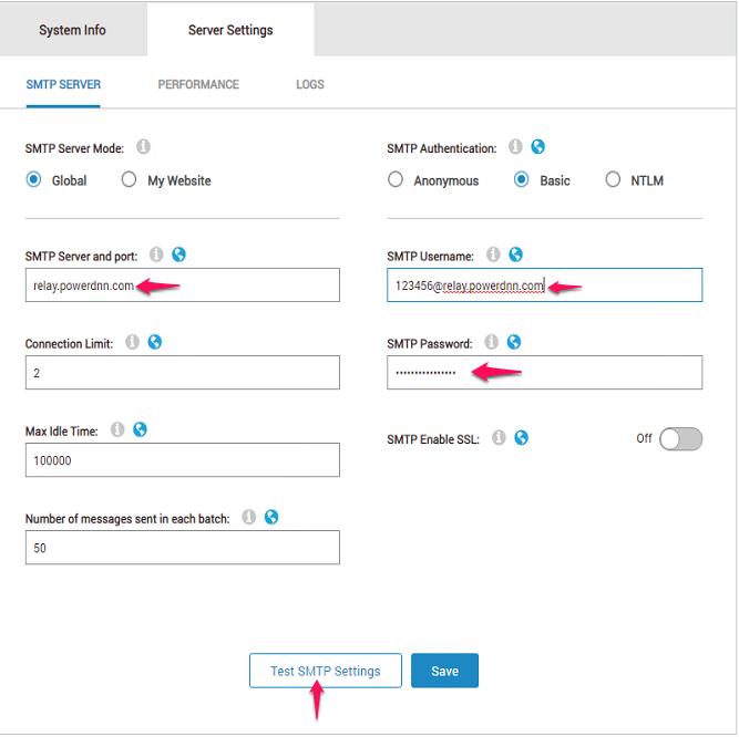 Configuring DotNetNuke to Send Email - 1  Frontline