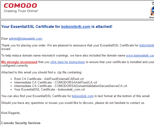How to Purchase Instant or EV SSL Certificates with Managed com