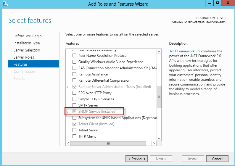 Install or configure SNMP for Windows - SolarWinds Worldwide