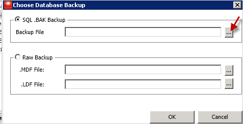 Choose Database Backup