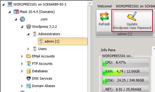 Update WordPress User Password