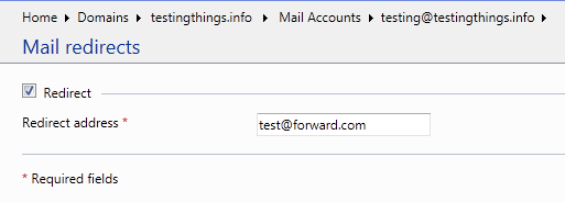 forwarding in plesk 9