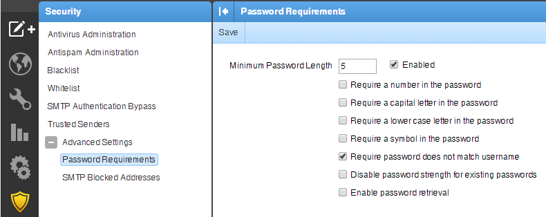 Security Password Requirements
