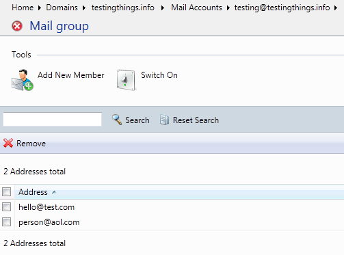 setting up a mail group in Plesk 9