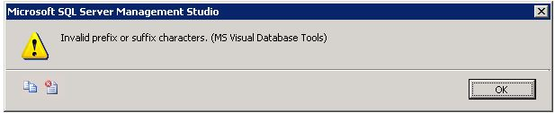 Error message received when clicking Edit Top 200 Rows in MSSQL 2008/2008R2