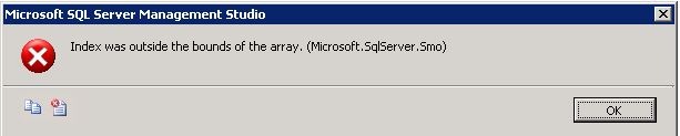Error when right-clicking table in SQL Server 2008/2008R2