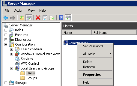 Windows Server 2008 R2 Administrator Password Change